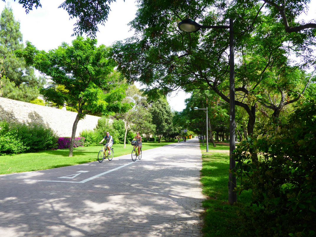 Cycling through the city parks in Valencia, Spain, Intern Abroad HQ