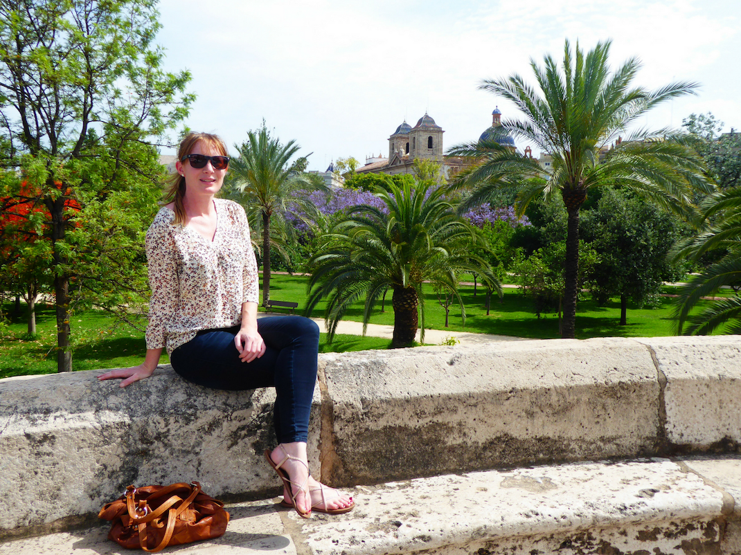 Resting on the city walls of Valencia, Spain, Intern Abroad HQ