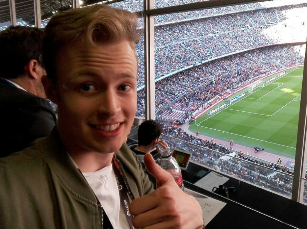 Intern enjoying football in Spain, Intern Abroad HQ