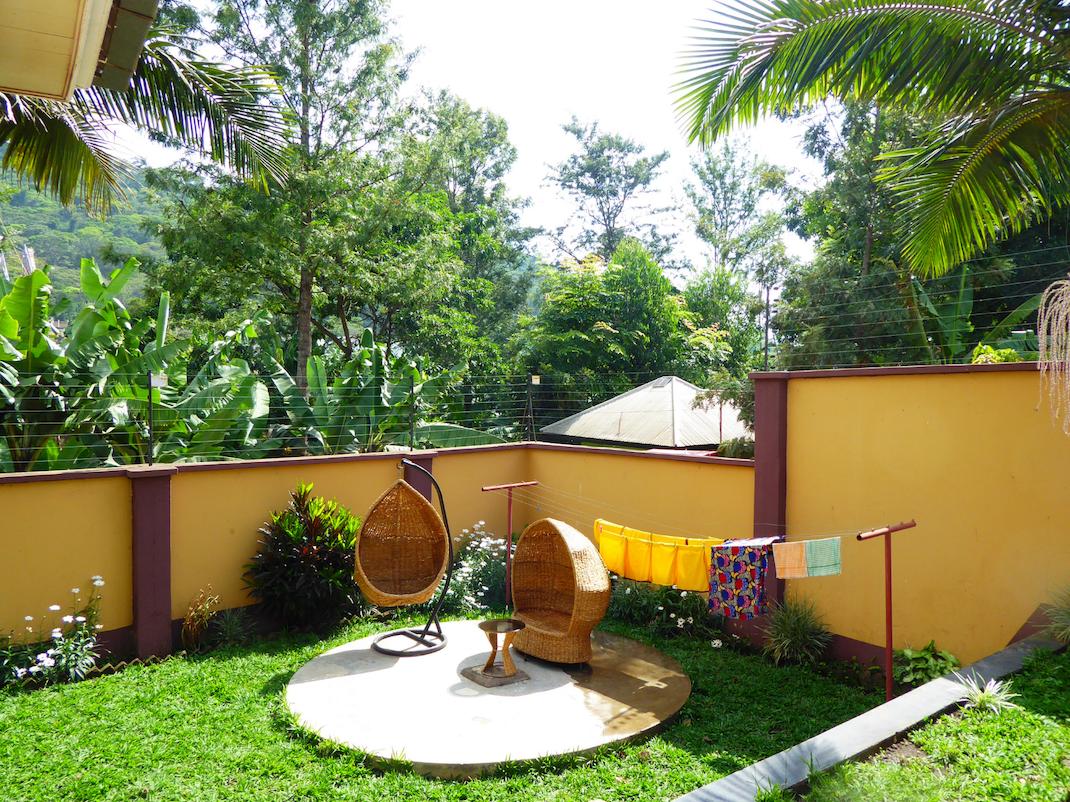 Outside the internship accommodation in Tanzania, Intern Abroad HQ