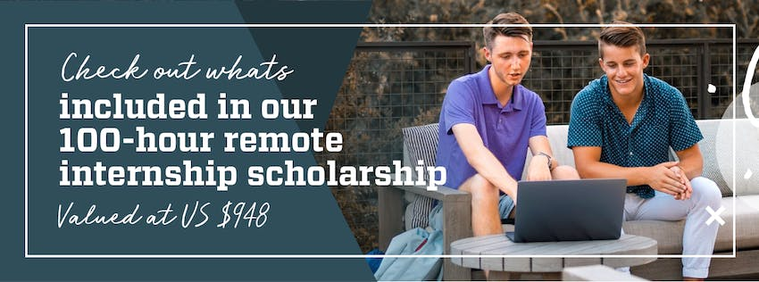 What's included in the remote internship scholarship?